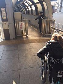 Escorted through a station PHOTO: Cara Kajewski