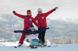 Nikki, Mollie & Kate PHOTO: Tim Barnsley, Myoko Snowsports