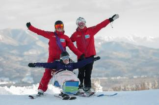 Nikki, Mollie & Kate PHOTO: Tim Barnsley, Myoko Snowsports