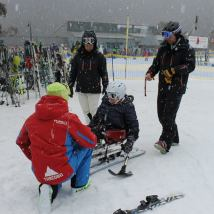 Kate & DWA Guides Michael & Jane learning from Thredbo Instructor Matti PHOTO: Michael Swain