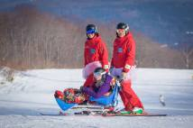 Sam, Charlie & Kate PHOTO: David Churchill, Myoko Snowsports