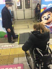 Ramp loading onto a subway PHOTO: Cara Kajewski
