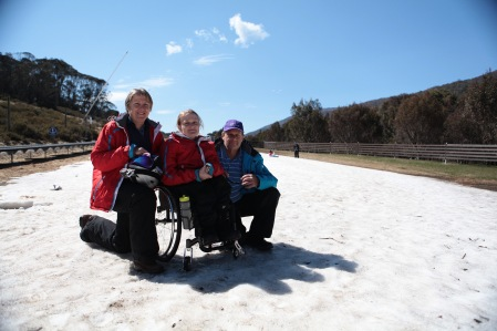 Kate & her parents at Thredbo