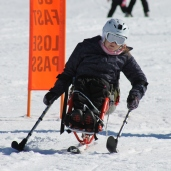 Kate at Perisher making a turn PHOTO: Thomas Swain