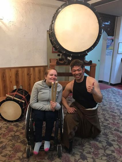 Kate & Japanese drummer PHOTO: Michael Swain