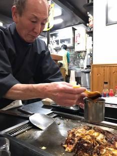 Making Okonomiyaki PHOTO: Kate Swain