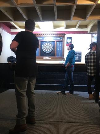 Charlie playing darts!