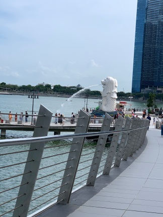 The push to the Merlion